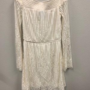 White Off-Shoulder Lace Dress